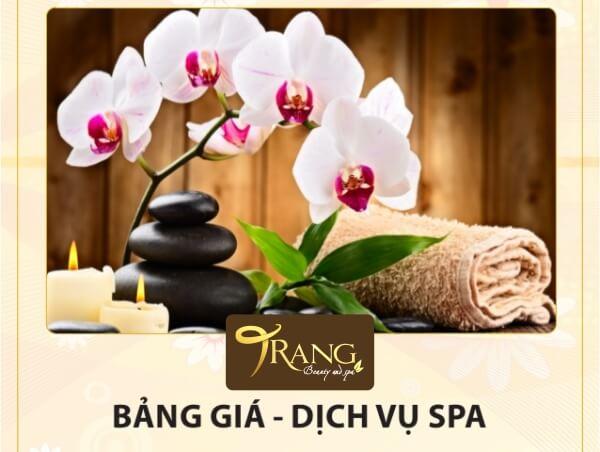 Bảng giá dịch vụ Trang Beauty Spa