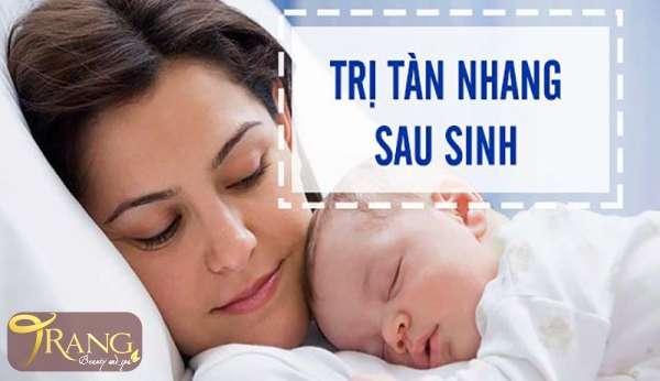 Trị tàn nhang cho mẹ sau sinh